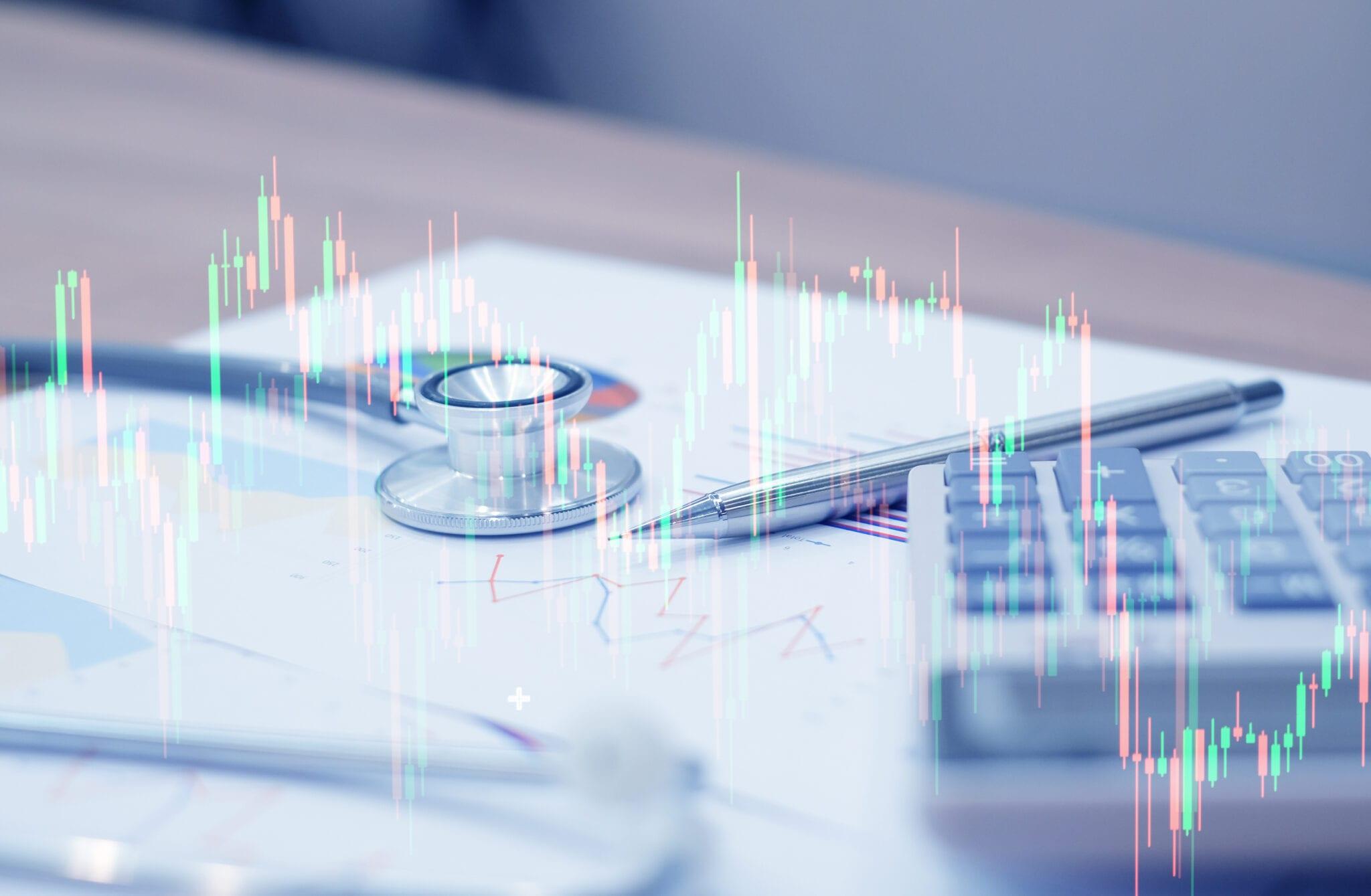 Healthcare penny stocks chart.
