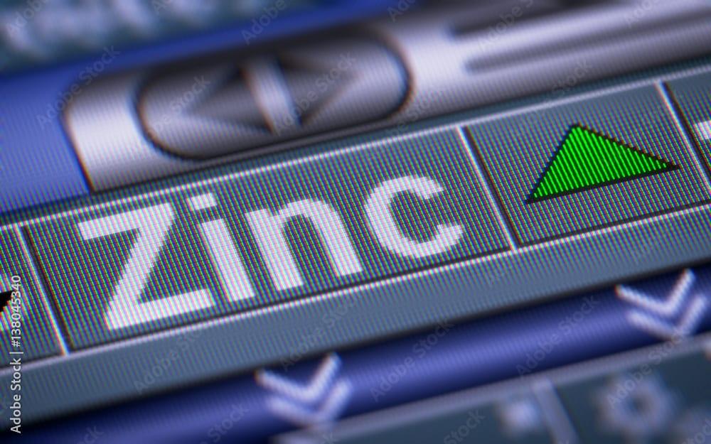 Zinc mining stocks on the stock market.