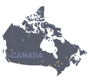 Canada's gold-rich spots