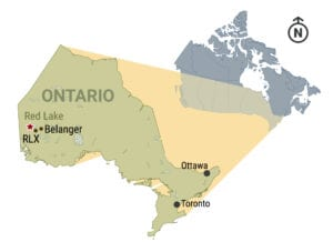Ontario gold investment map