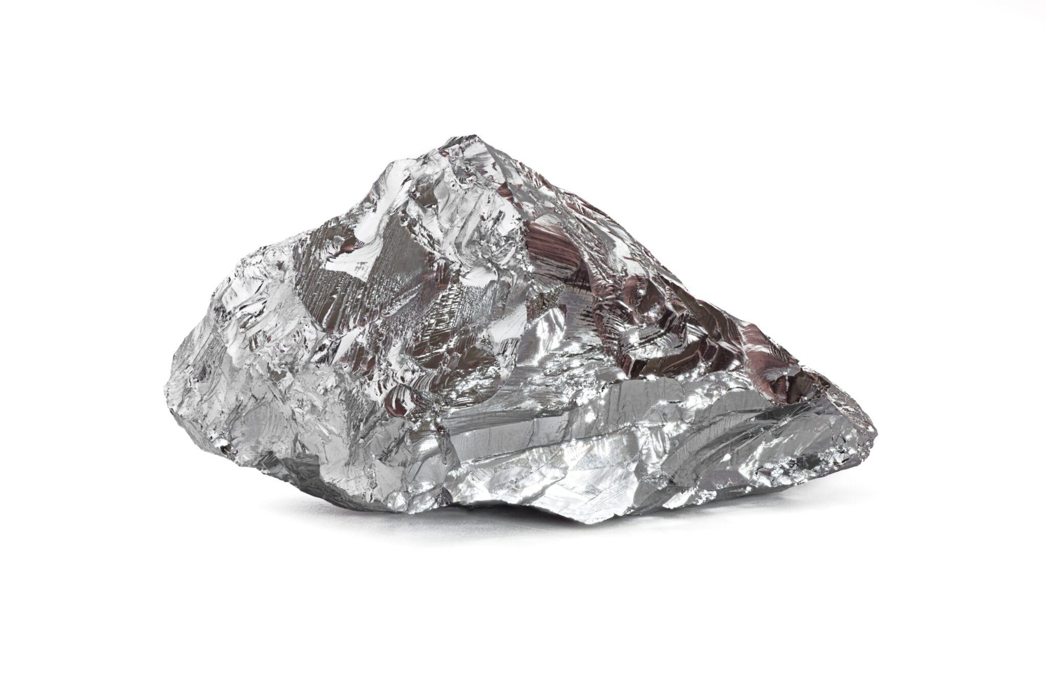 A piece of nickel metal ore, part of nickel mining stocks